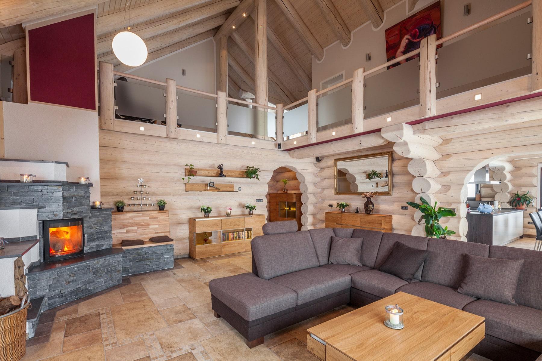 Das Naturstammhaus im modernen Stil | Team Kanadablockhaus GmbH