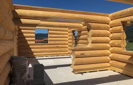 Aufbau Blockhaus